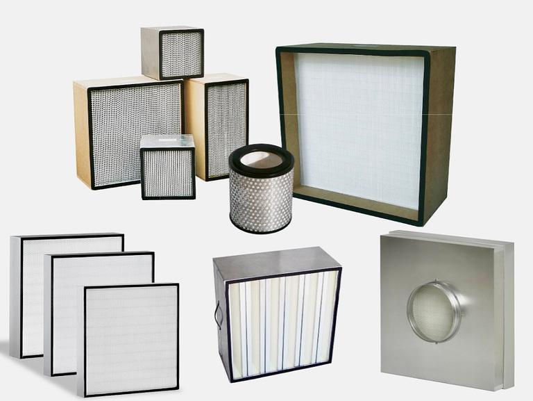 En række eksempler på et ULPA filter