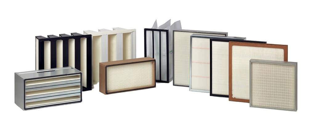 Her ser du mange eksempler på et ventilationsfilter til ren luft